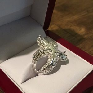 Jewelry - Sterling silver starfish statement ring, size 8 🆕